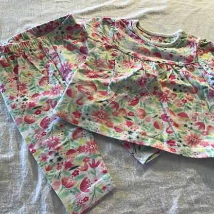 3-6 Month Floral Leggings and Dress